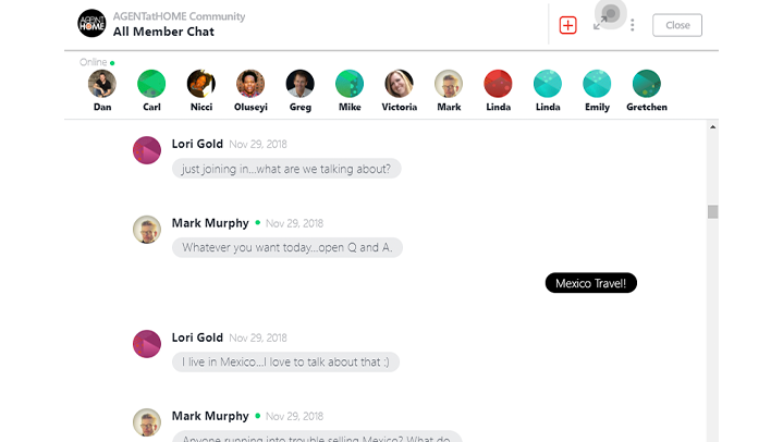 Live sponsored chats